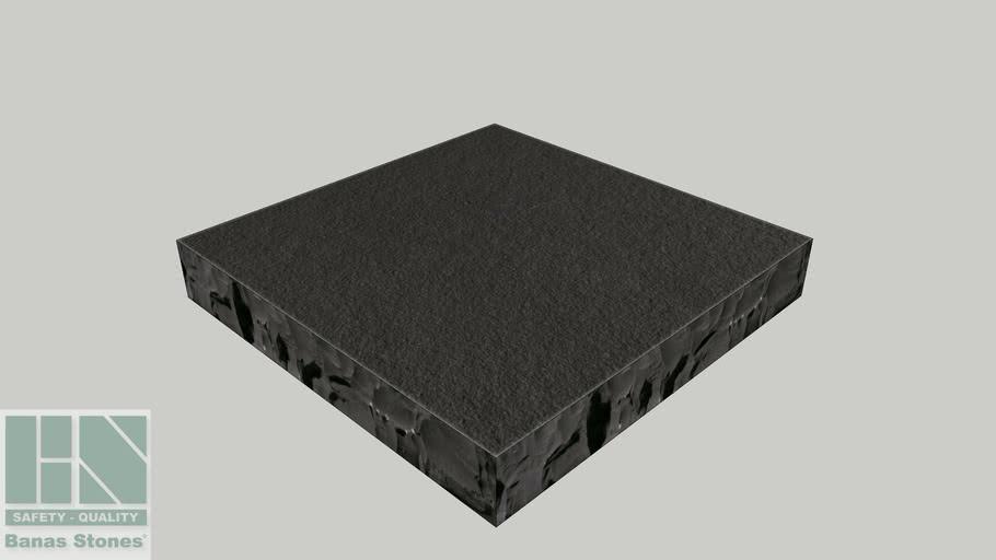 "Banas® Stones Natural Pier Caps - 24"" x 24"" - Kota Black"