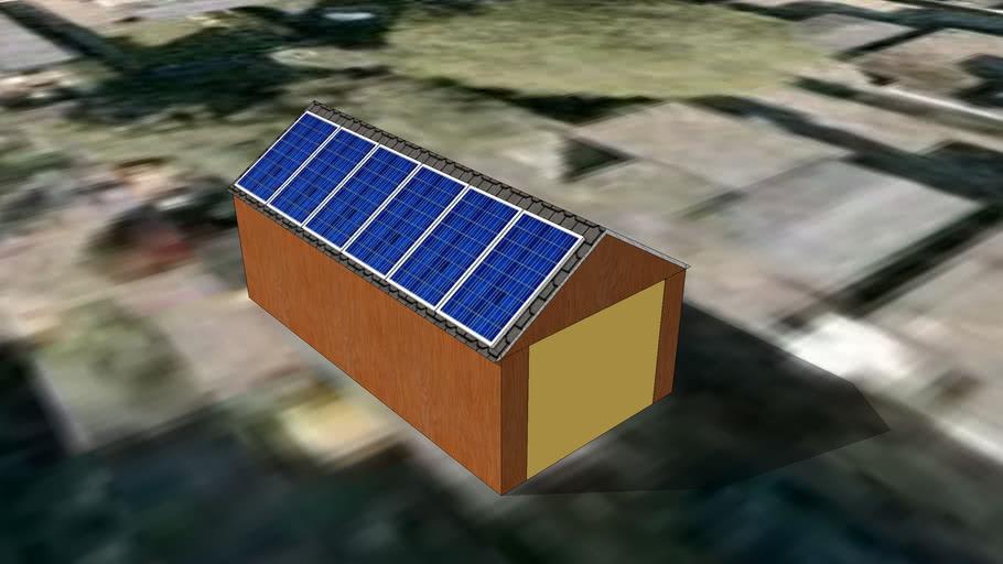 Garage met zonnepanelen