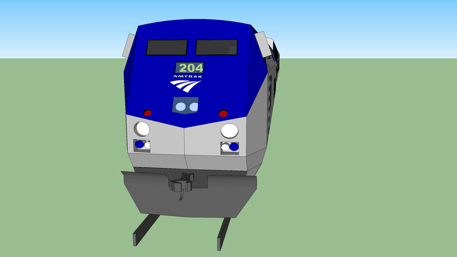 An Amtrak train that is cool!!!!!!!