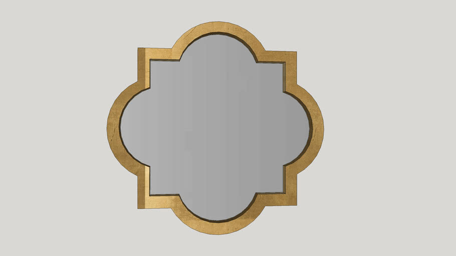 Gold Transitional Accent Mirror