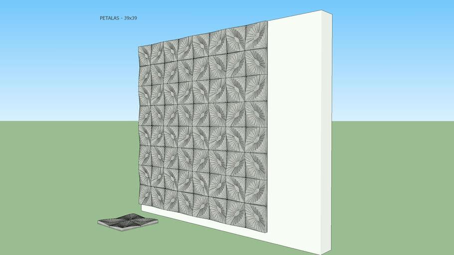 Placa cimentícia Modelo Pétalas- lux005