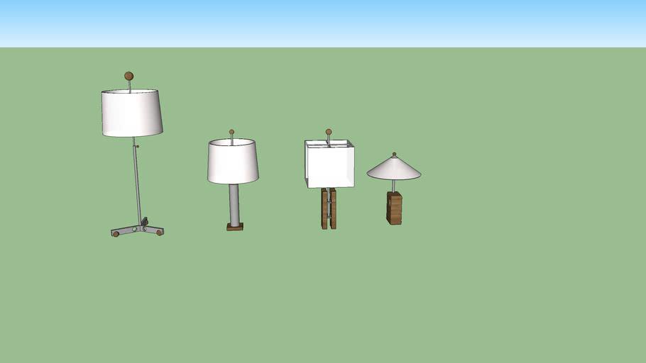Luminárias do Sergio Rodrigues: Sergio Augusto, J. Hirth, Tcheko e Xibô