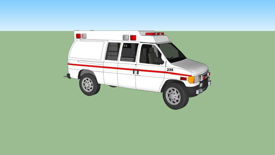 ambulance type ll ford f350 econoline model 1997  turbo diesel