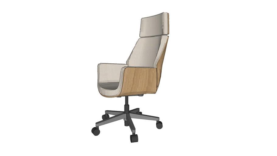 bent wood swivel office chair