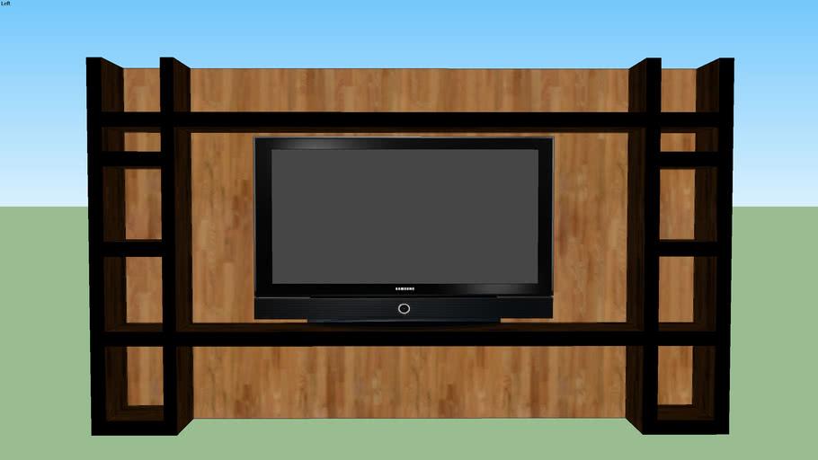 Móvel Parede Sala Tv com espaços divididos