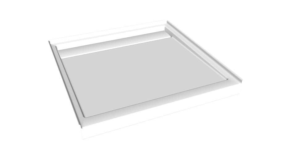 "K-9997 Groove(R) 42"" x 42"" single threshold rear center drain shower base"