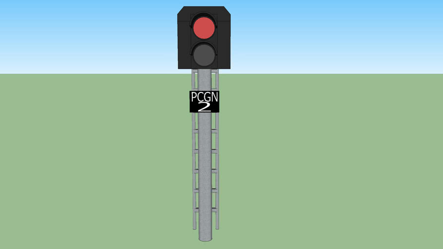 Train signal (red light) #2