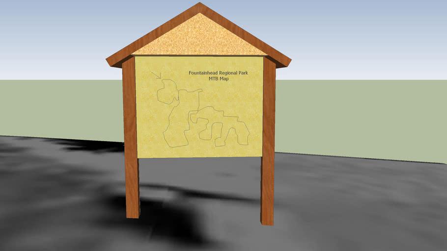 Fountainhead MTB Trail Map Sign