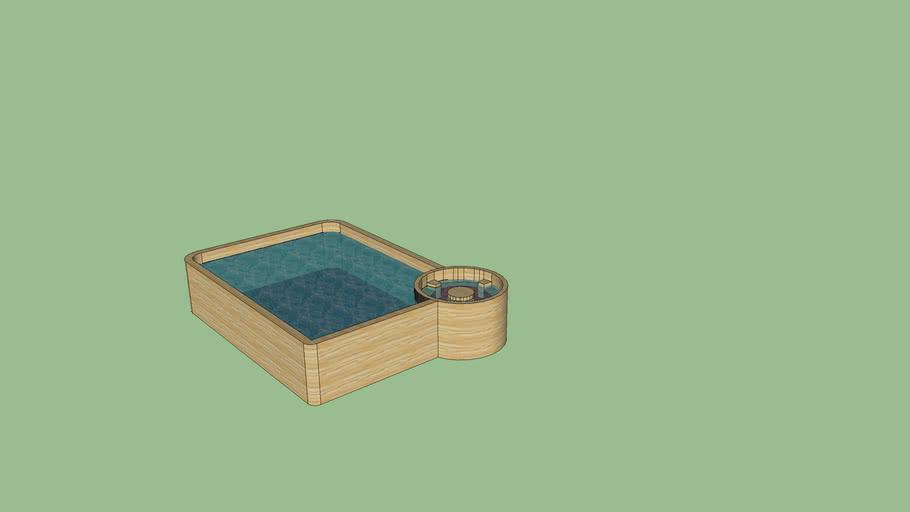 zwembad met brubbelbad