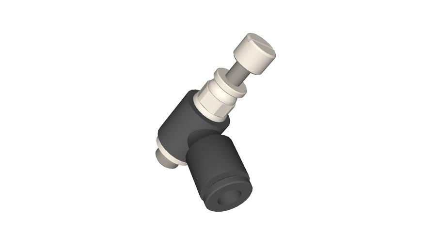 Régleur de débit miniature diamètre 4 - M5x0,8
