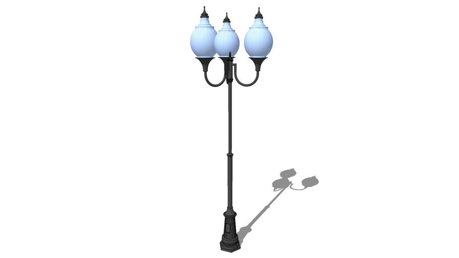 """Уличный фонарь Лотос 3 плафона / Streetlight """"Lotus"""" street 3 lights"""