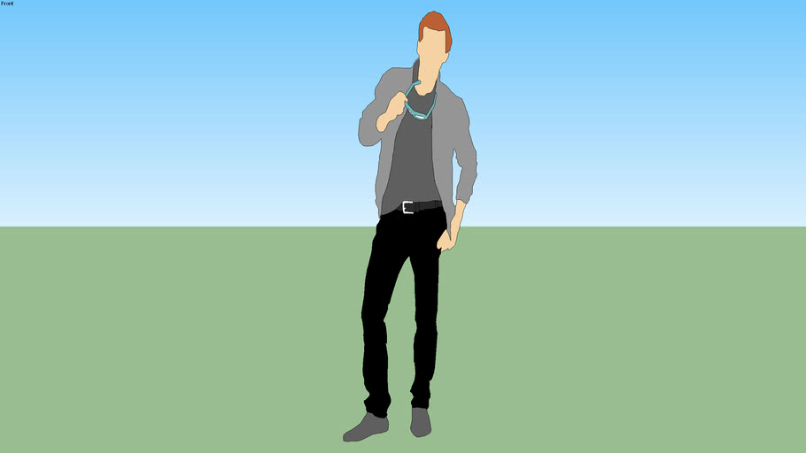 2D standing man