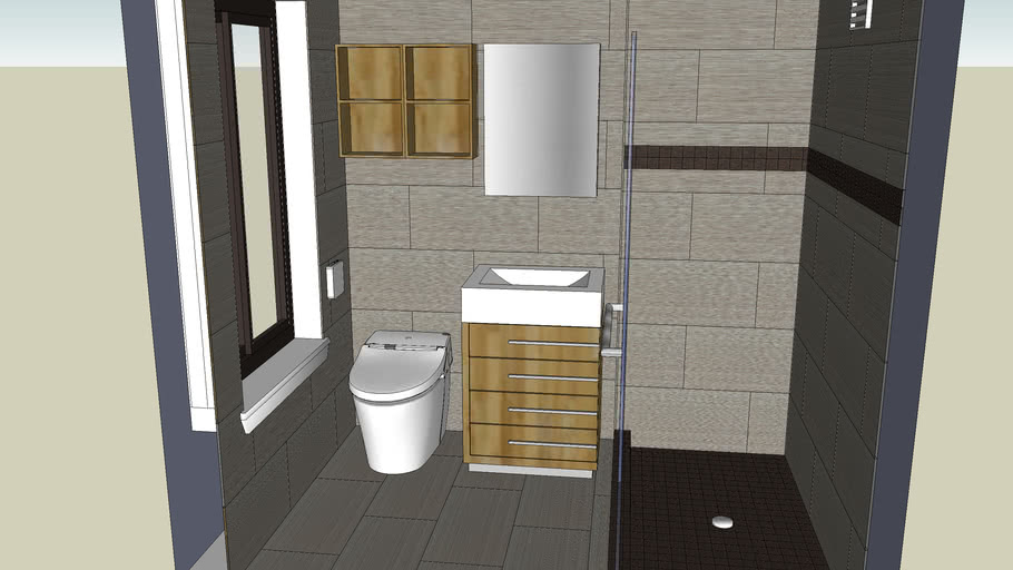 Master bathroom final with tiles