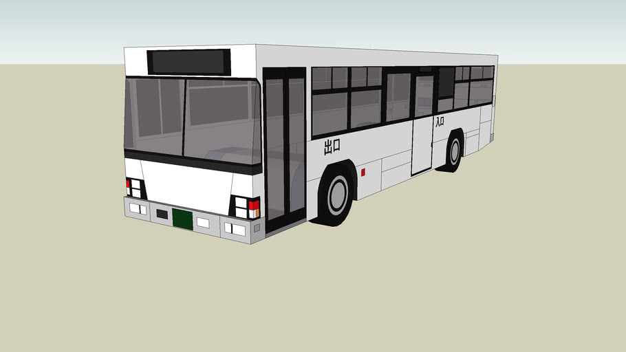 White Isuzu Erga Bus