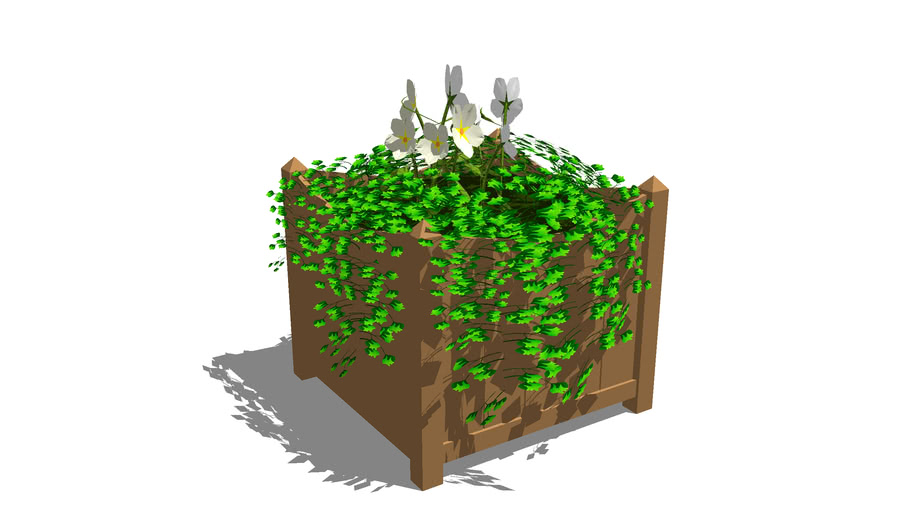 Houten plantbak