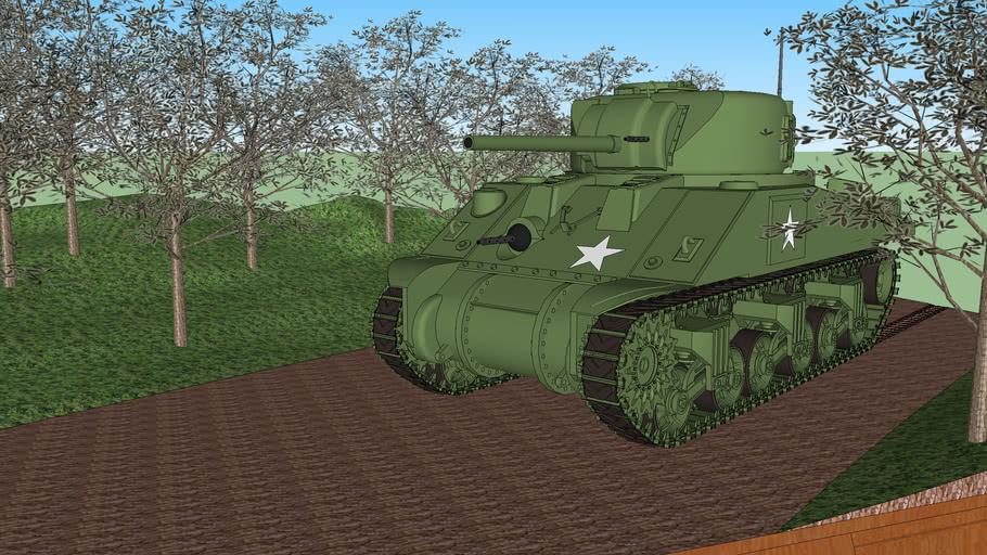 Diorama M4 Sherman / ジオラマ シャーマン戦車