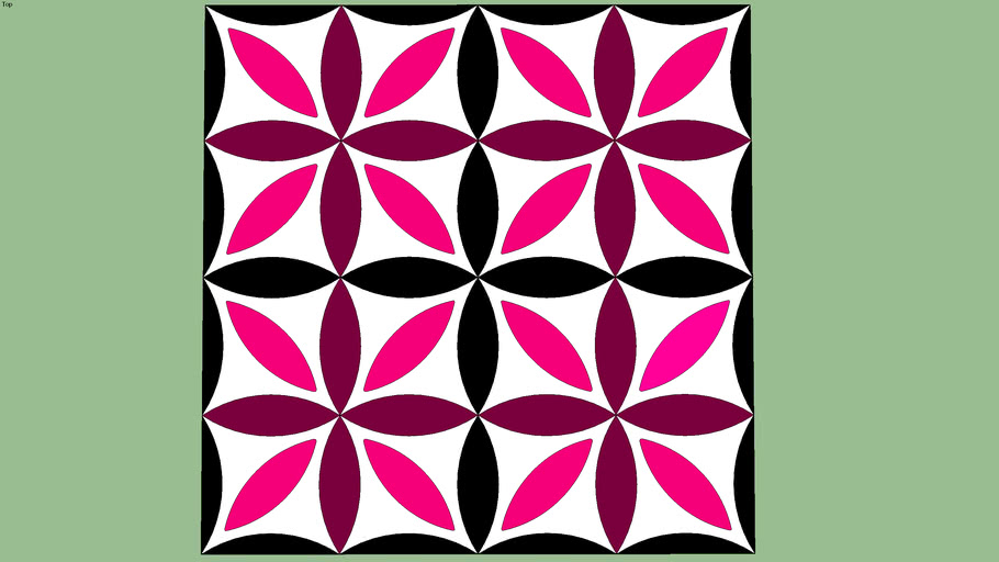 Pink flowers Floor