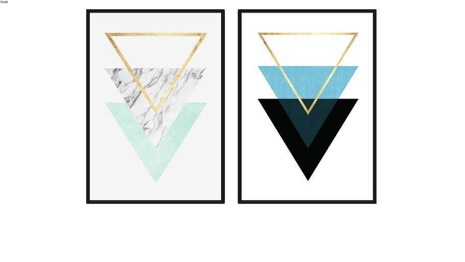 Quadro Geometria Triangular VI e Geometria Triangular VIII