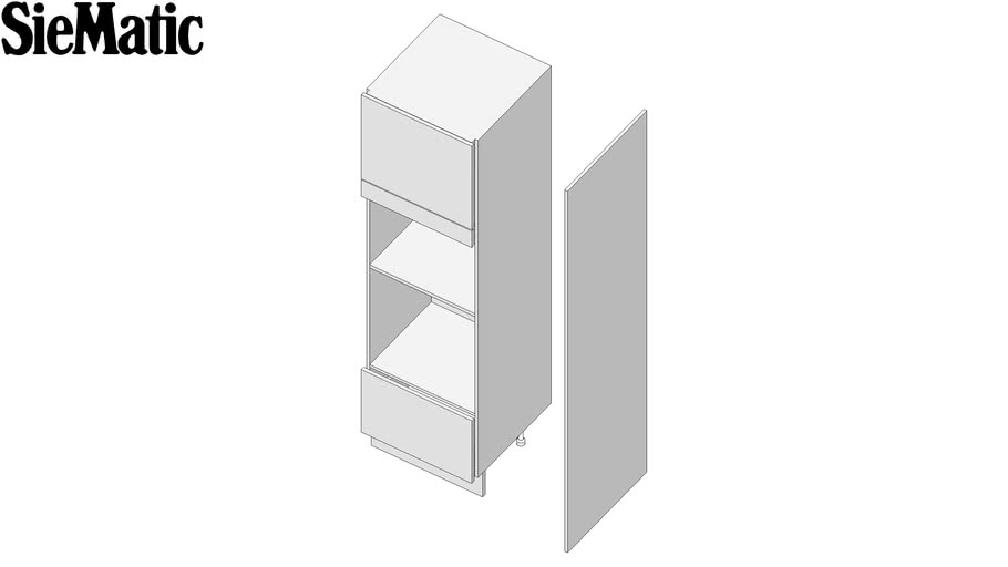 Tall Cabinet For Oven And Microwave 207, Siematic Kitchen Cabinet Dimensions