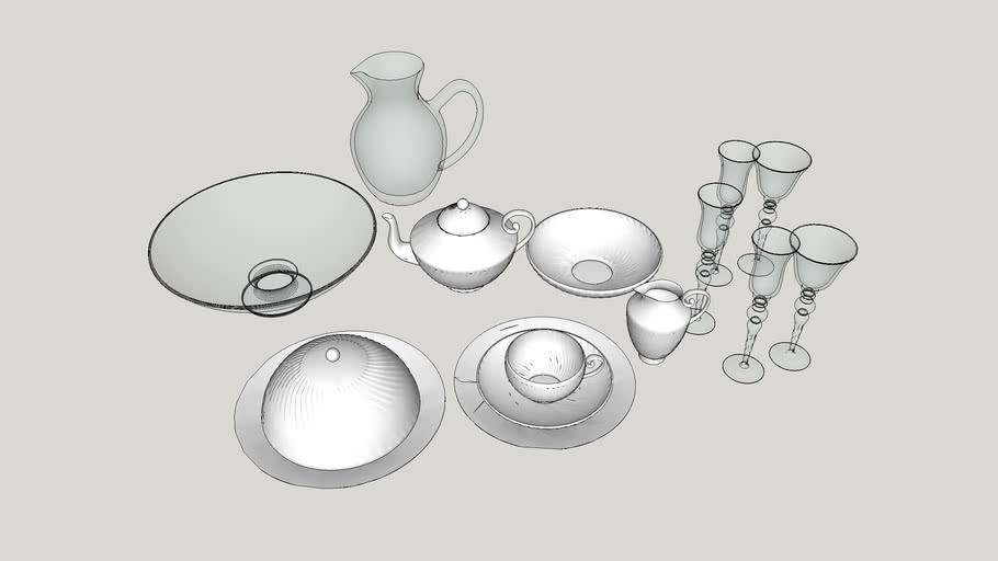 Utensílios de cozinha - Louças, talheres e taças