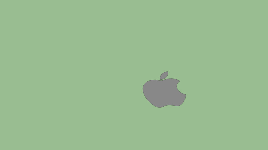Apple Logo (2d + Grey)