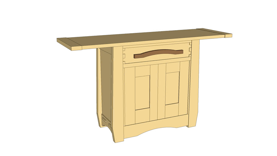 Arts & Crafts Style Buffet from Popular Woodworking Magazine