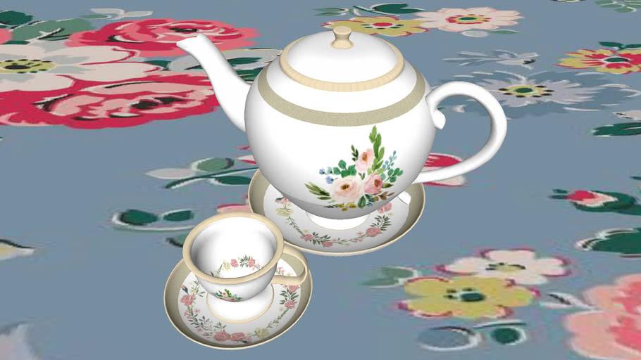 英式 茶杯   英式 茶壺  British teacup &  British teapot