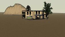 Santa Fe-style adobe homes