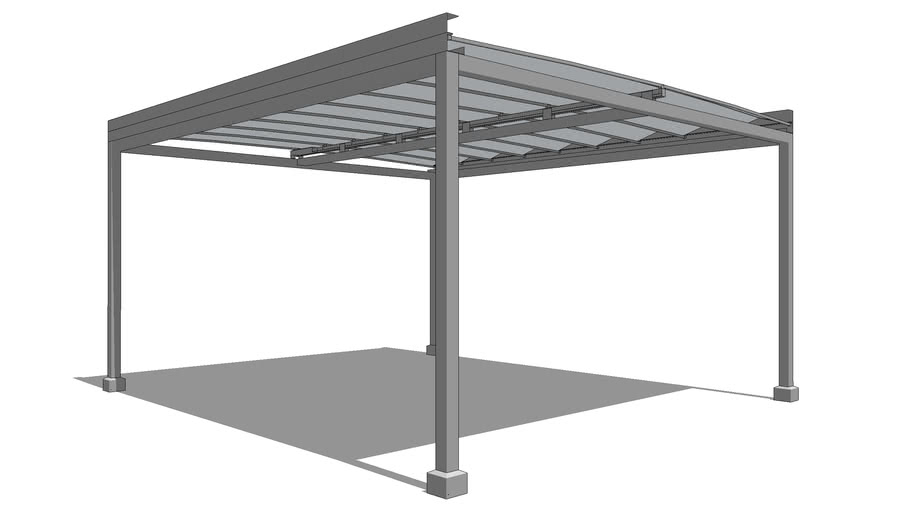 Aluminum Structure with Retractable Roof