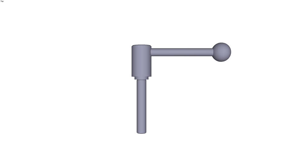 Indexing tension lever external thread...0° - size 3 M16  threaded rod length 90 mm
