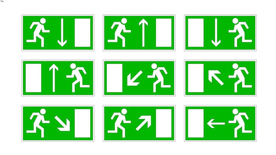 Evacuatie - EHBO pictogrammen