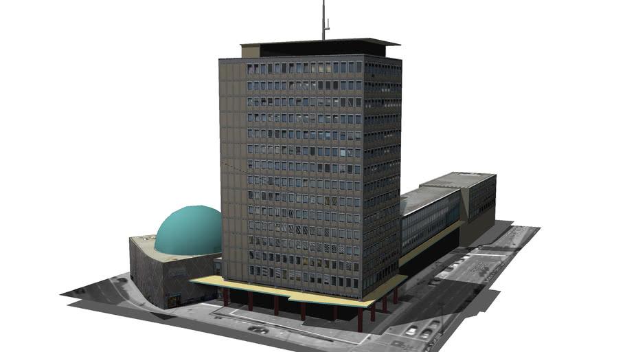 Plärrer-Hochhaus mit Planetarium