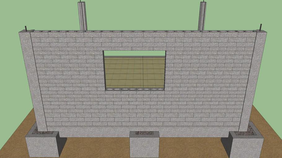 Cofre vigas colunas e parede