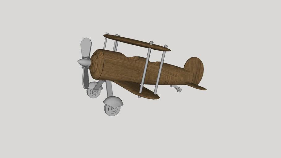wooden biplane