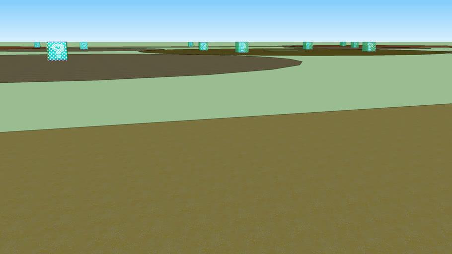 mario kart custom track 4-  circly square (battle arena)