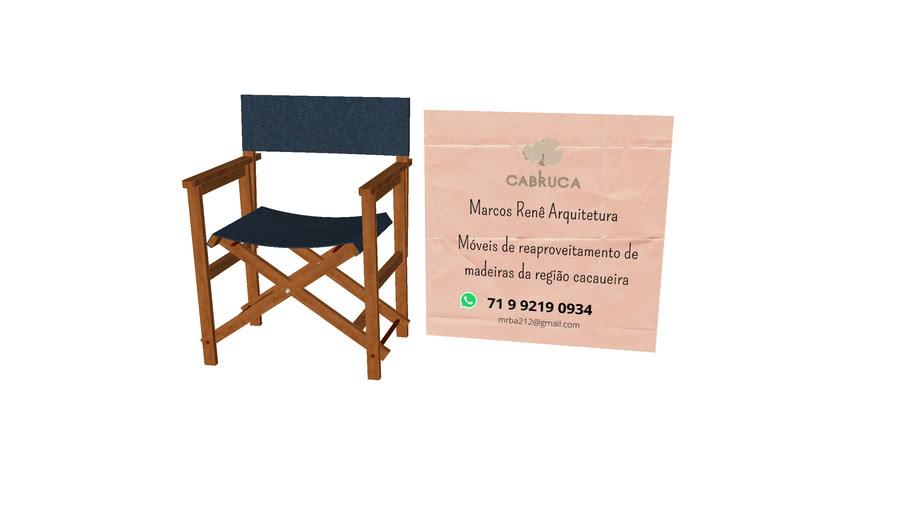 Cadeira diretor cabruca de madeira