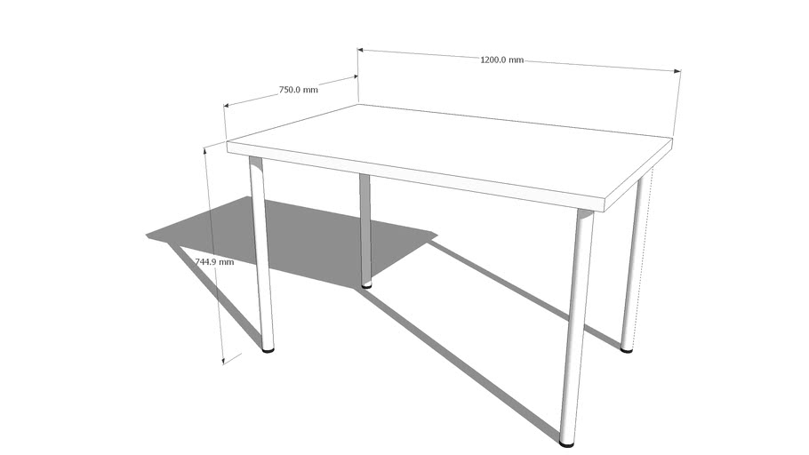 Simple table (IKEA reference - linnmon + adils)