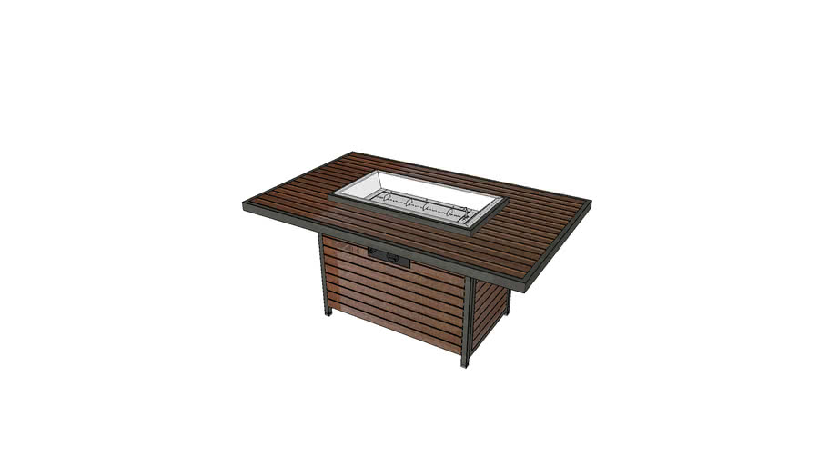 Kenwood Rectangular Chat Fire Pit Table