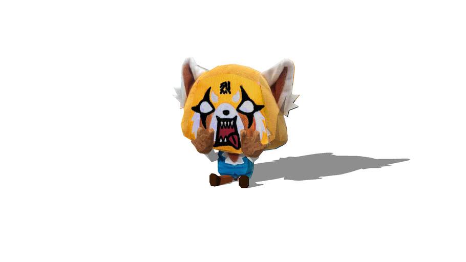 Metal/Angry Aggretsuko Plush Doll