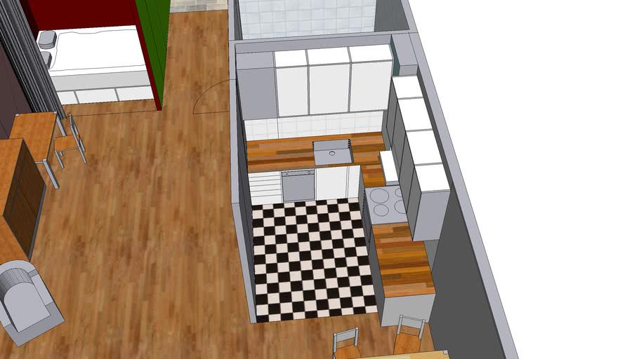 Oscars lägenhet med ombyggt kök