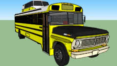 Little Yellow Motorhome Bus