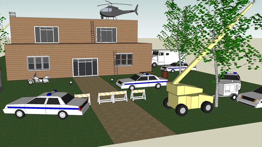 sketsup inval aan huis-sketsup raid on house -