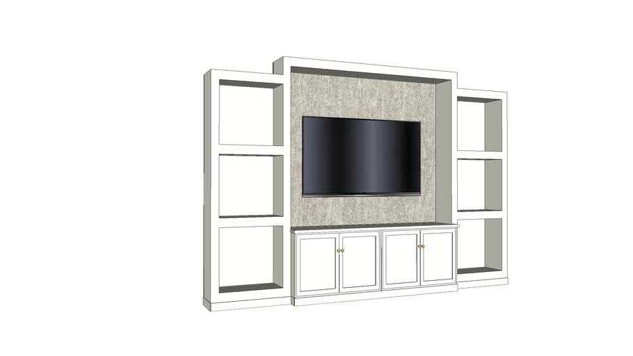 Livingroom cabinet greige 3m