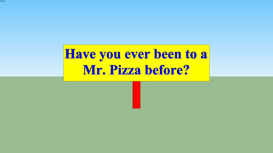 Have you ever been to a Mr. Pizza before??? A. True B. False