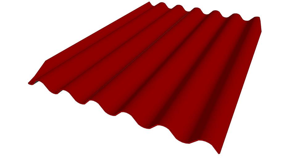 Plaque de versant Rouge-Brun