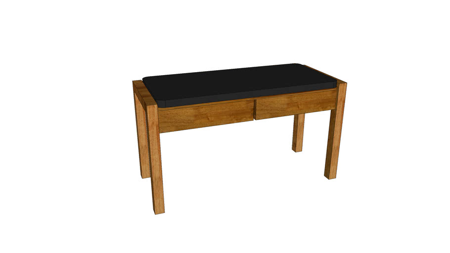 Mondeo Hall Stool with 2 Drawers_Oak