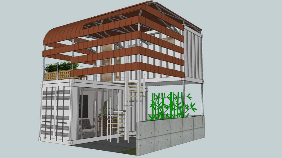 2x20ft cargo container terrace