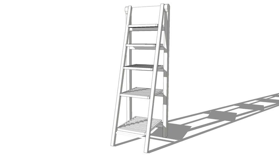 Etagère-échelle blanc Newport,Maisons du monde,104.260, prix : 59€