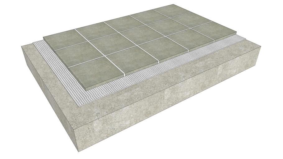 Floor Tile - Thinset on Concrete