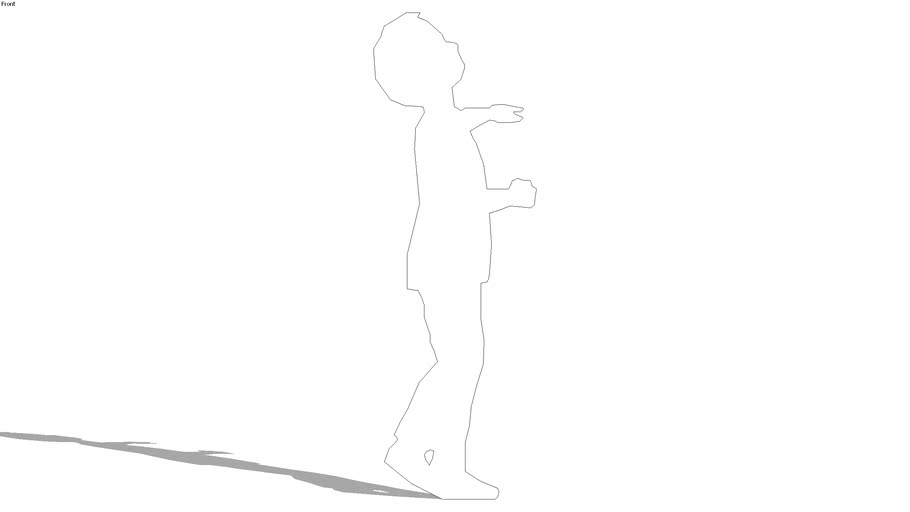 2d silhouette boy, looking up